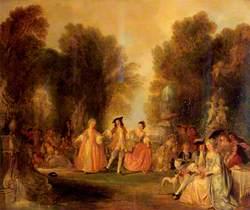 A Garden Scene, in the Manner of Watteau