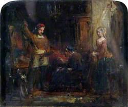 Quentin Matsys in His Studio