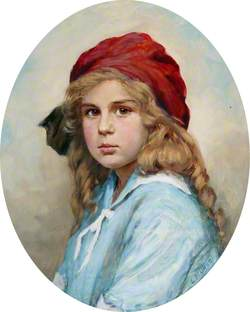 Philippa Burrell, the Artist's Daughter, Aged 9