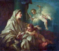 An Allegory: Fidelity (A Woman with a Dog and Two Putti)