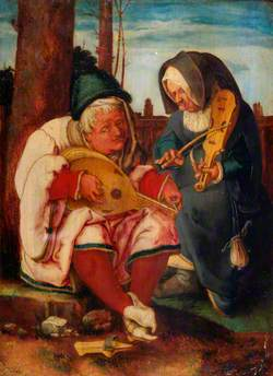 Musicians: An Old Man and an Old Woman