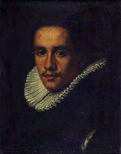 Bust Portrait of a Man in Black Dress and a White Ruff