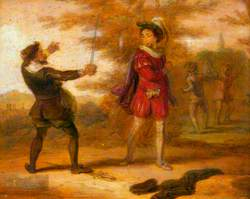 Illustration from Francis Beaumont and John Fletcher's 'The Humorous Lieutenant'