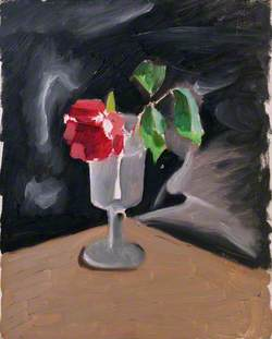 Still Life: A Rose in a Glass