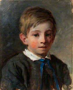 Edgar Holl as a Small Boy