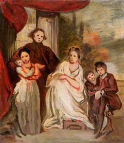 Portrait of a Gentleman, His Wife and Children