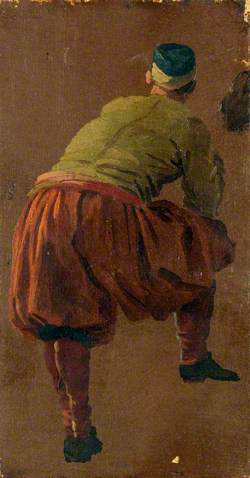 A Man, Perhaps a Gondolier, Seen from Behind