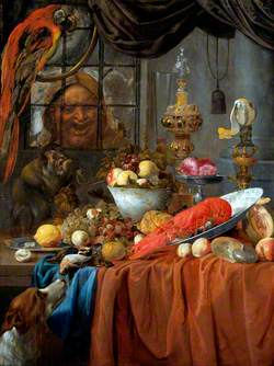 Still Life with Fruit, Lobster and Silver Vessels