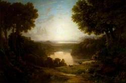 Italianate Landscape with Shepherds