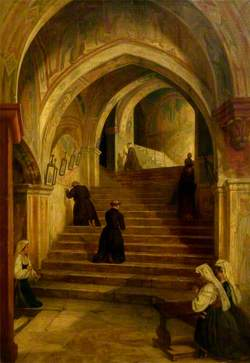 The Scala Santa at the Benedictine Monastery of Subiaco, near Rome