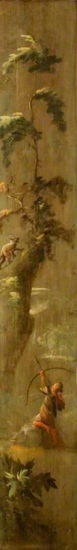 An Archer Hunting an Ibex