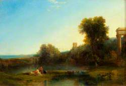 A Landscape with Classical Ruins
