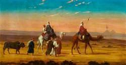 A Caravan in the Desert