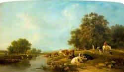 Landscape with Cattle: Milking Time