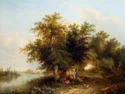 Landscape with Gypsies and Haymakers