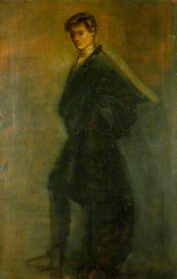 Edward Gordon Craig (1872–1966), as Hamlet in 'Hamlet' by William Shakespeare