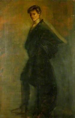 Edward Gordon Craig (1872–1966), as Hamlet in 'Hamlet' by William Shakespeare