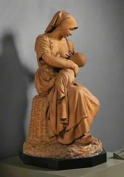 Peasant Woman Nursing a Baby