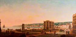 Posillipo from the Riviera de Chiaia, Naples, Italy
