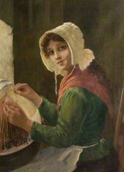 Young Woman Lacemaking
