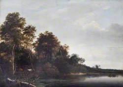 Wood Scene and River