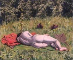 Reclining Nude in a Field