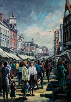 Nuneaton Market Place, Warwickshire