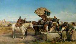 Wine Cart, the Roman Campagna