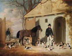 Mr George Charles Benn and Mr Anthony Staresmore Benn with Their Beagles at the Kennels, Benn Fields, Warwickshire
