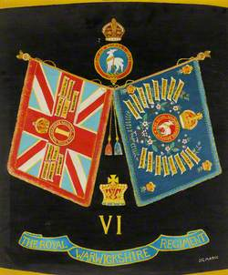 The Colours of the 1st Battalion Royal Warwickshire Regiment