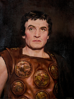 Sir Laurence Olivier (1907–1989), as Coriolanus, Stratford