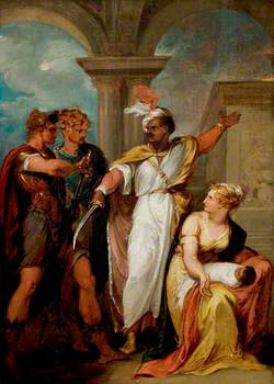 'Titus Andronicus', Act IV, Scene 2, Aaron the Moor, Demetrius and a Nurse and Child
