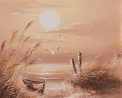 Winter Sunrise over Sea