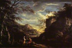 River Landscape with Apollo and the Cumaean Sibyl