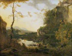 Italian Landscape with a Pool
