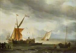 Dutch Craft Lying Close Onshore