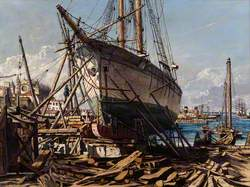 Shipyard at Palma in Majorca