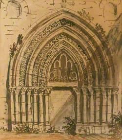 Holyrood Chapel – West Door, 13th Century
