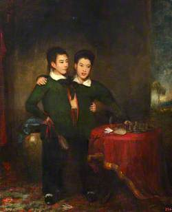 Chang and Eng, the Siamese Twins, in 1830