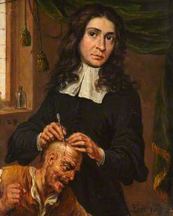 A Surgeon Operating on a Patient's Scalp
