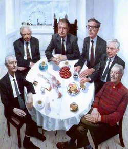 Six Academy Presidents (Gallus Gallus with Still Life and Presidents)