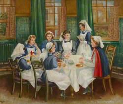 Nurses Sitting around a Table