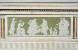 Wedgwood Plaque from Fireplace Depicting Classical Scene
