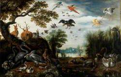 Dodo in a Landscape with Animals