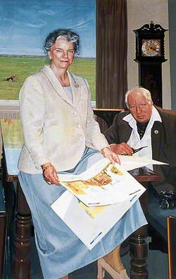 Susan Mitchell, Treasurer (1996–2002) and Her Husband John