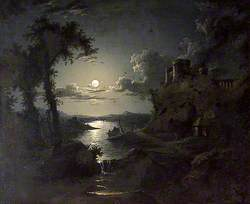 Moonlit Estuary Scene