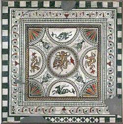Mid-Second Century Cupid on a Dolphin Mosaic