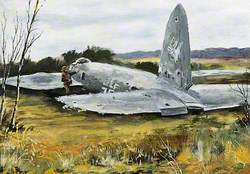 'Heinkel' Shot Down on High Salvington, August 1940