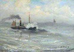 Steamship in Stormy Seas