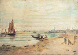 Sailing Vessels and Beach